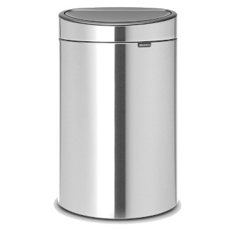 Brabantia 平背免指紋彈蓋環保垃圾桶 23L + 10L - 磨砂鋼色