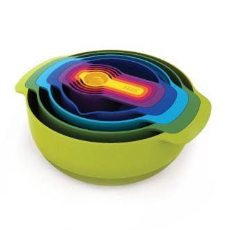 Joseph Joseph Nest™ 攪拌碗連量杯9件裝 - 彩色