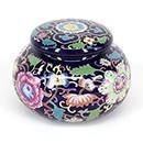 紫底花卉茶葉罐 - 小