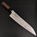 日野浦司青二鋼有色大馬士革牛刀210mm