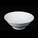 """白色陶面 7"""" 日式拉麵碗"""