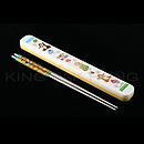 大鼻與鋼牙黃色筷子盒連不銹鋼筷子