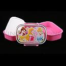 迪士尼公主 粉紅色2層飯盒