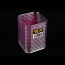Pure Life 209 透粉紅正方形文具座 - 3格