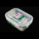 Asvel unix ware 1.1L 4Lock 玻璃密封食物盒 - 白色