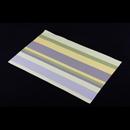 高貴PVC編織餐墊 - 直條紋 - 黃綠色