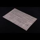 高貴PVC編織餐墊 - 啡灰白色