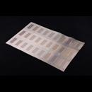 高貴PVC編織餐墊 - 長方形格仔 - 金色