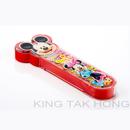 迪士尼米奇透明餐具盒連筷子、匙羹 (紅或藍色)