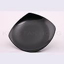 黑瓷方形碟