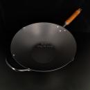 日本製窒化鐵鎚目單柄鑊30cm