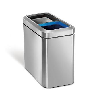 simplehuman 20L 窄身不銹鋼開口分類垃圾桶