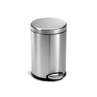 simplehuman 免指紋不銹鋼圓形腳踏垃圾桶