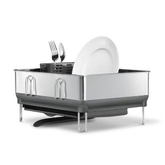 simplehuman 免指紋不銹鋼鋼架小型碗碟架