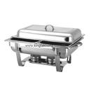 Regal 彎腳 1/1 長方形不銹鋼自助餐爐,雙食物盆,可疊型