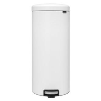 Brabantia Newicon 30L 圓形腳踏垃圾桶 - 白色
