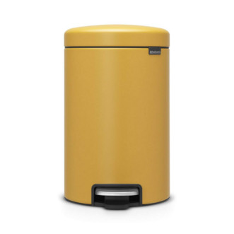 Brabantia Newicon 30L 圓形腳踏垃圾桶 - 芥末黃