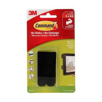 3M Command™ 無痕™ 魔術貼─黑色中型