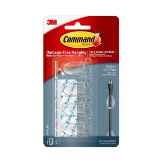 3M Command™ 無痕™ 透明電線夾─中型(10mm直徑電線)