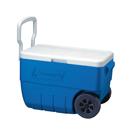 Coleman 50QT 塑料有轆冰箱 - 藍色
