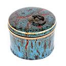 鈞釉圓茶葉罐 - 藍色