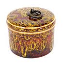 鈞釉圓茶葉罐 - 黃色