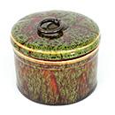 鈞釉圓茶葉罐 - 綠色