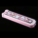 Hello Kitty 粉紅色餐具盒連筷子匙羹