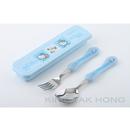 Hello Kitty 藍色餐具盒連叉、匙羹