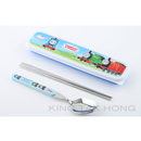 Thomas & Friends 藍色餐具盒連筷子、匙羹