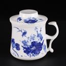 青花骨瓷清香開耳茶隔杯