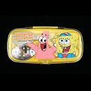 海綿寶寶黃色透明餐具盒(連叉、匙