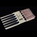 黑色蘭字木筷子 (5對裝)