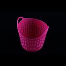inomata COMO 粉紅色特色軟身小貯物籃