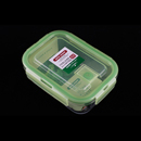 Asvel unix ware 520ml 4Lock 玻璃密封食物盒 - 綠色
