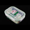 Asvel unix ware 750ml 4Lock 玻璃密封食物盒 - 白色