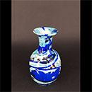 """6"""" 藍色圖案迷你花瓶"""
