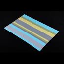 高貴PVC編織餐墊 - 直條紋 - 黃藍綠色