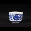 青花瓷洋蓮闊口茶杯