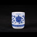 青花瓷洋蓮直身茶杯