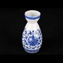 青花瓷洋蓮酒壺