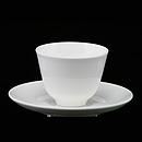 白骨瓷中式茶杯連碟