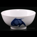 """加白藍鯉魚8""""企口碗"""