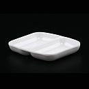 """白科學瓷3.5""""兩格醬油碟"""