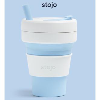 Stojo Biggie 環保可摺疊杯 16oz/470ml - 天空藍