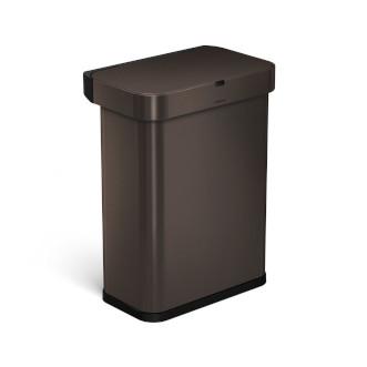 simplehuman 58L 免指紋不銹鋼長方聲控&自動感應垃圾桶 - 深銅色