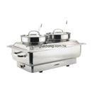 83系列 1/1 長方形不銹鋼電熱雙湯桶自助餐爐